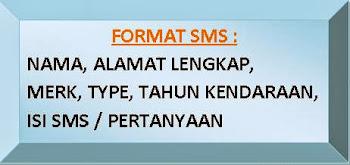 Apabila mengirim SMS, ketiklah   sesuai dengan format dibawah   ini: