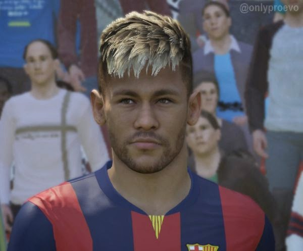 Faces jogadores brasileiros: Face Neymar PES 2015