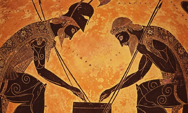 Gjcl Classical Art History Achilles Ajax Playing A Game