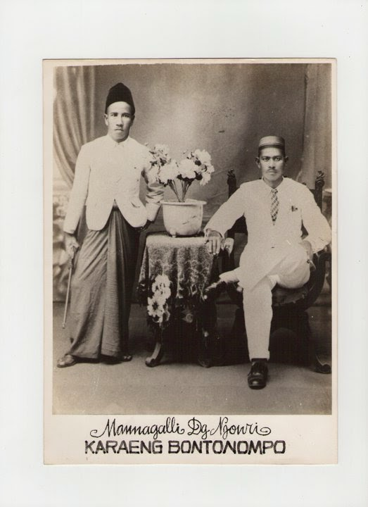 Foto Kakek saya ketika diangkat menjadi raja di Bontonompo