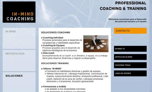 ver página web de IN-MIND COACHING: soluciones para el desarrollo del potencial humano y el cambio en empresas (soluciones coaching y training)