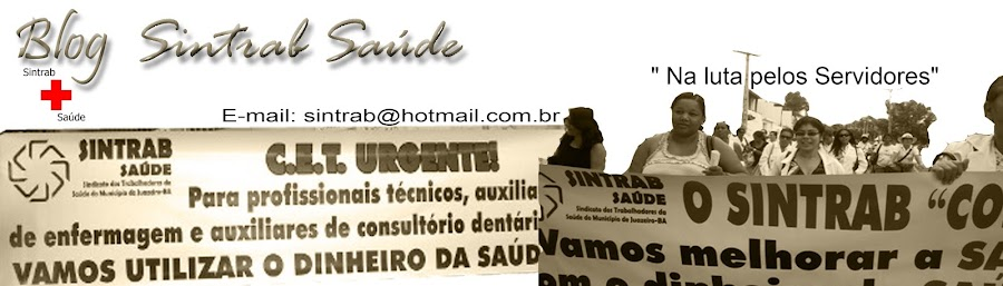Blog Sintrab Saúde Juazeiro