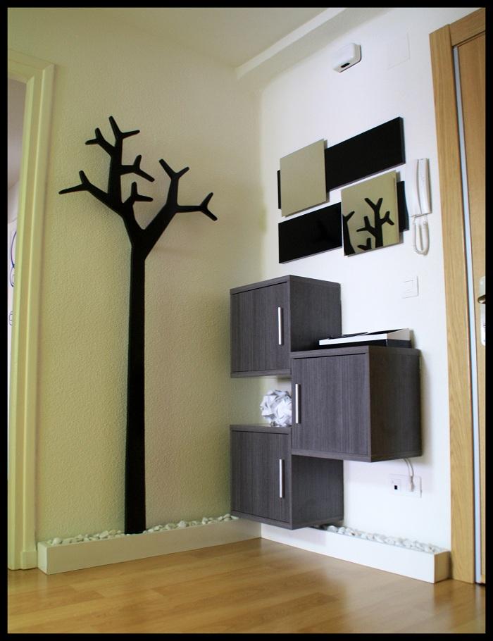 Diy espejos para un recibidor con un rbol perchero for Espejos bonitos para recibidor