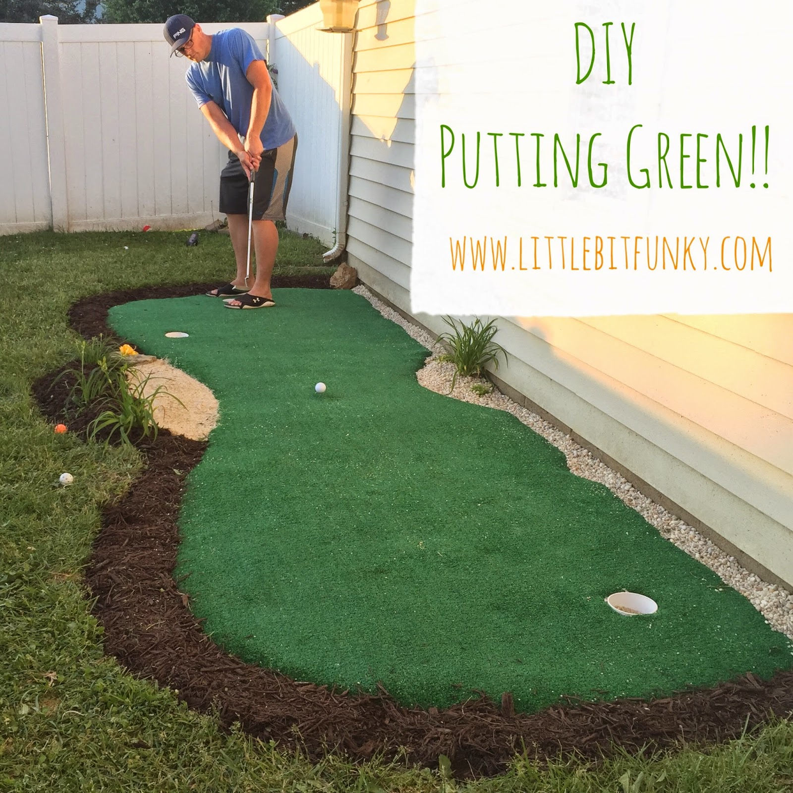 Little Bit Funky: How to make a backyard putting green! {DIY ...