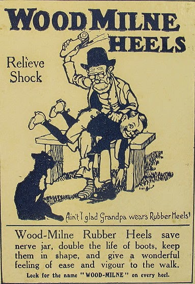 Advertisement for Wood-Milne Rubber Heels