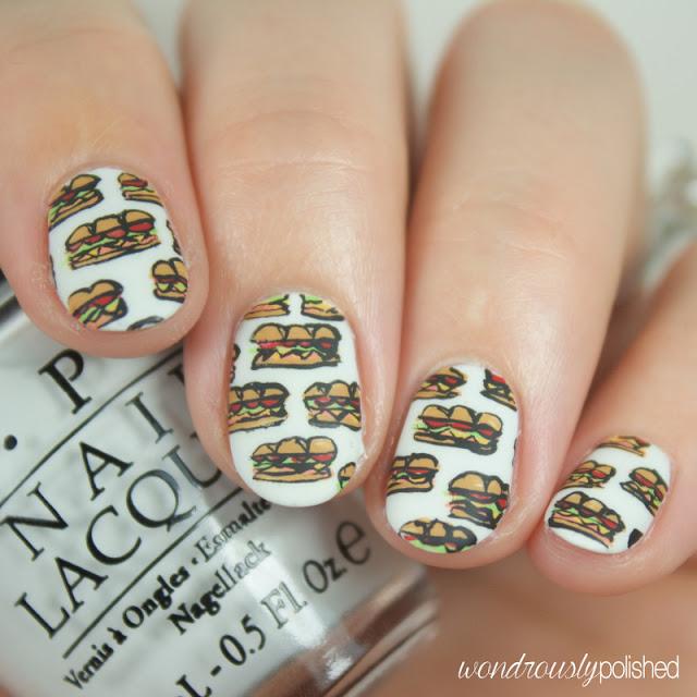 sandwich nail art