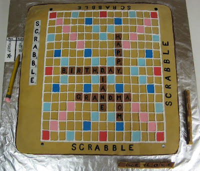 3D Scrabble Board Game Cake - Overhead View 1
