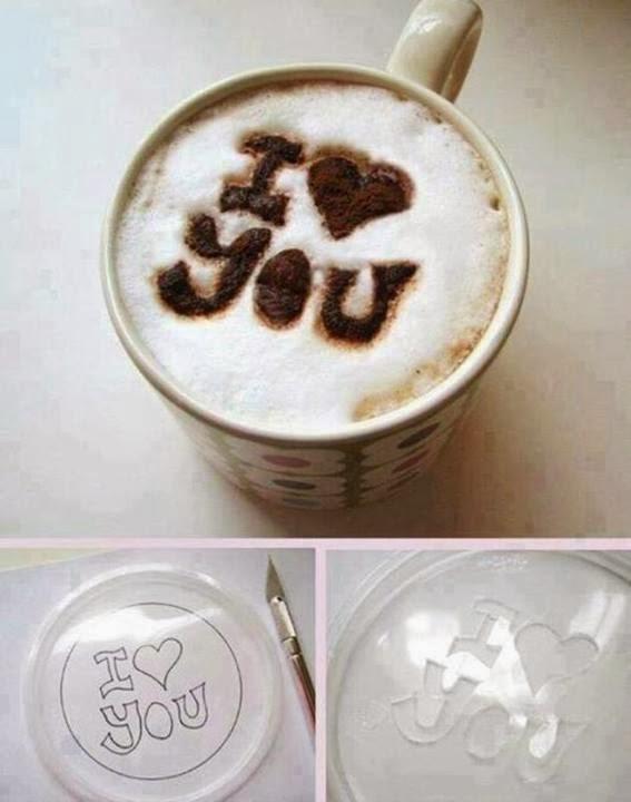Truco para dibujar en la espuma del café capuccino