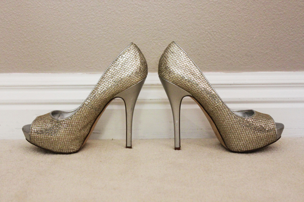 Sparkly pumps by Aldo