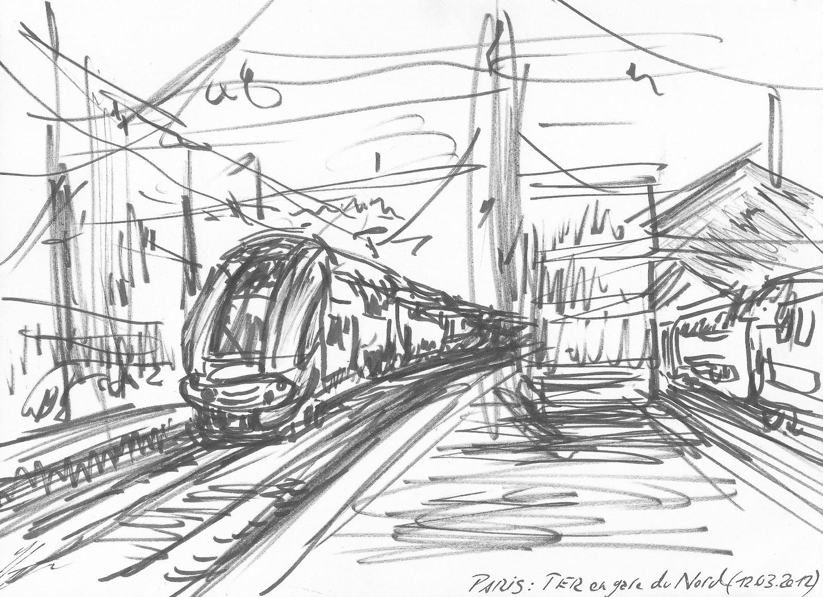 comment dessiner une gare
