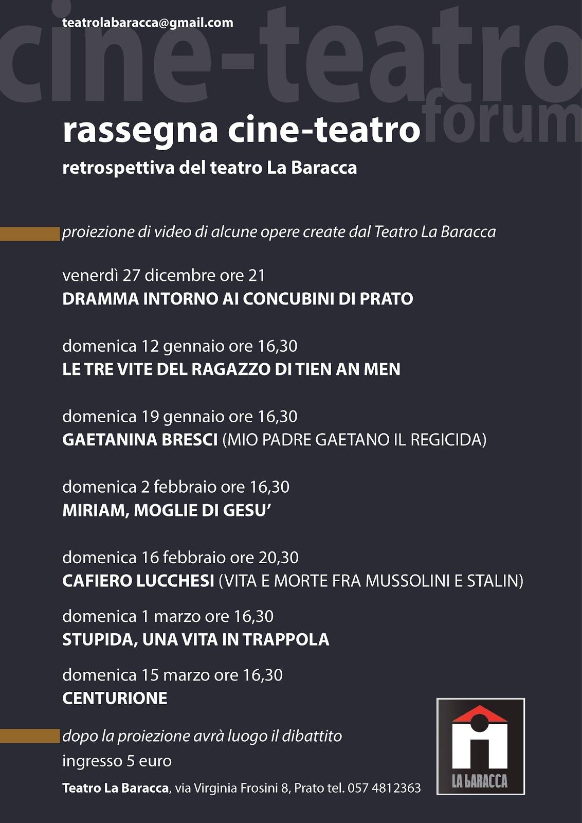 Restrospettiva Teatro La Baracca