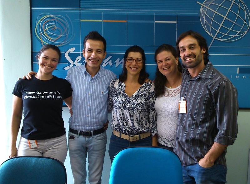 Maryta Cerávolo (IEF), Kenny Mendes (Câmara Municipal), Debora Blanco, Viviane Ferreira (Semam) e William Schepis (IEF)