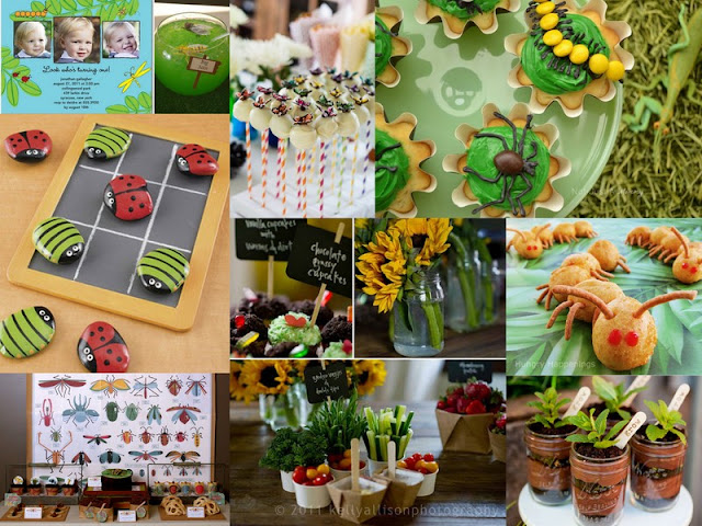bug party inspiration board