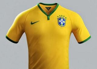 Le maillot du Brésil de la Coupe du monde 2014