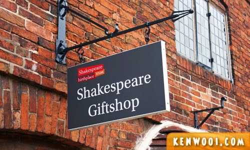 shakespeare gift shop