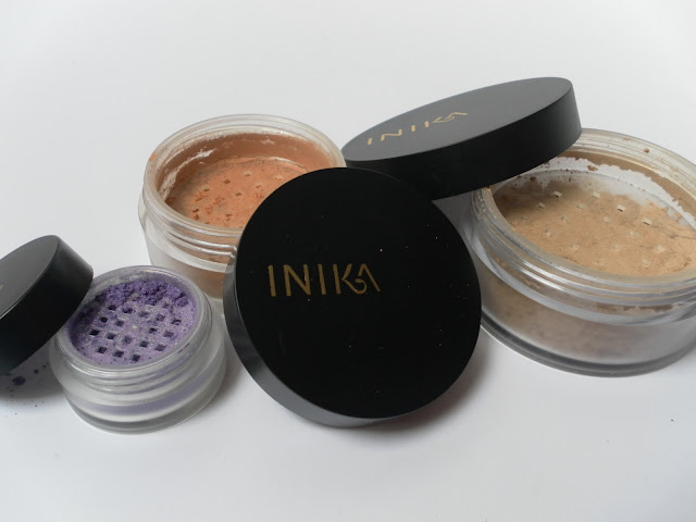 A picture of Inika makeup products