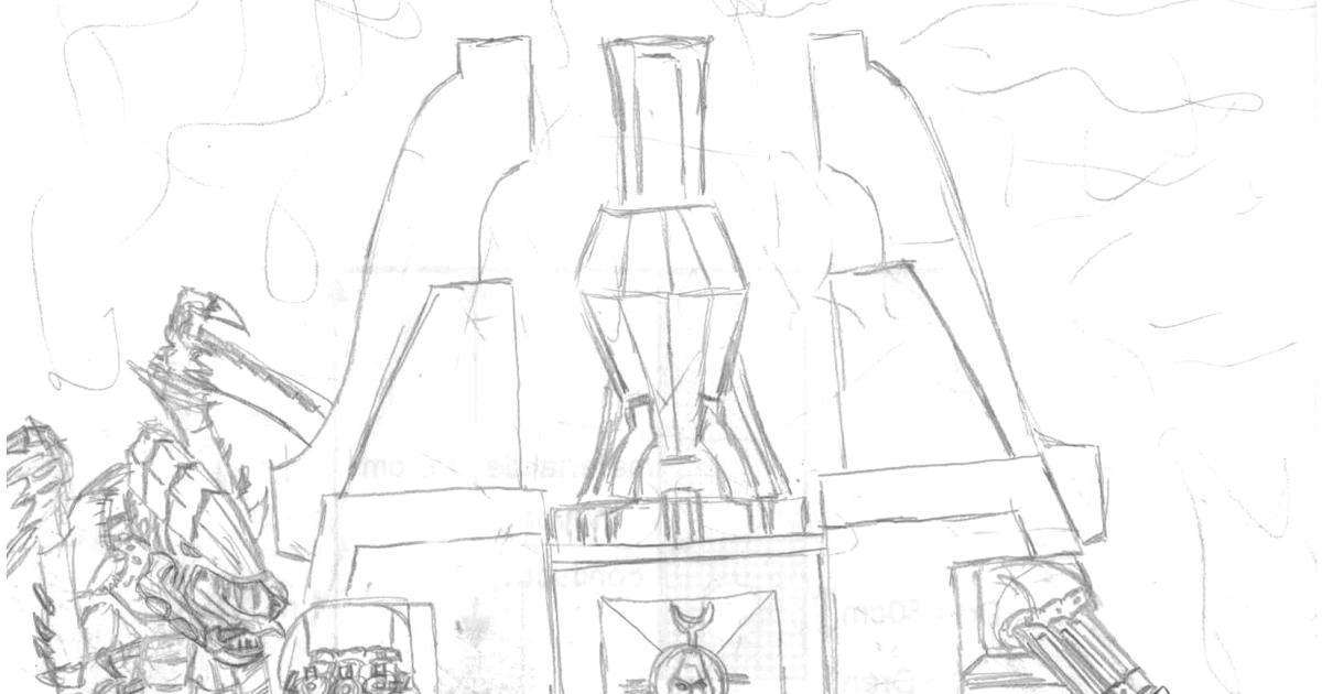 El Taller de Sir Skofis: Algo diferente 2: dibujo de warhammer 40000