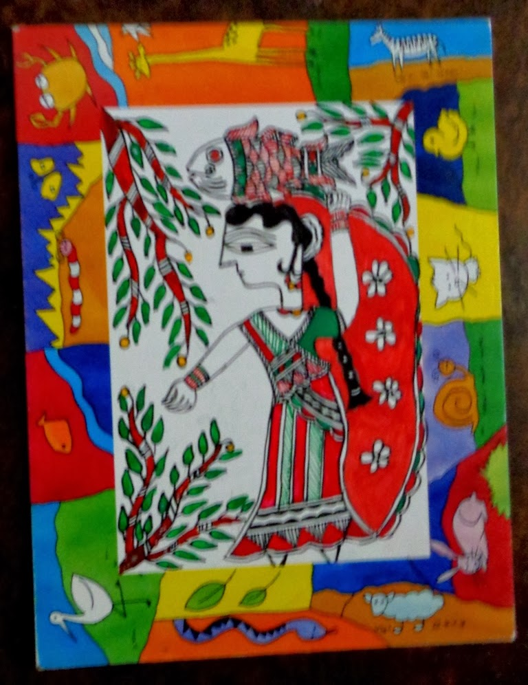 Madhubani Painting (Bihar)   IMAGES, GIF, ANIMATED GIF, WALLPAPER, STICKER FOR WHATSAPP & FACEBOOK