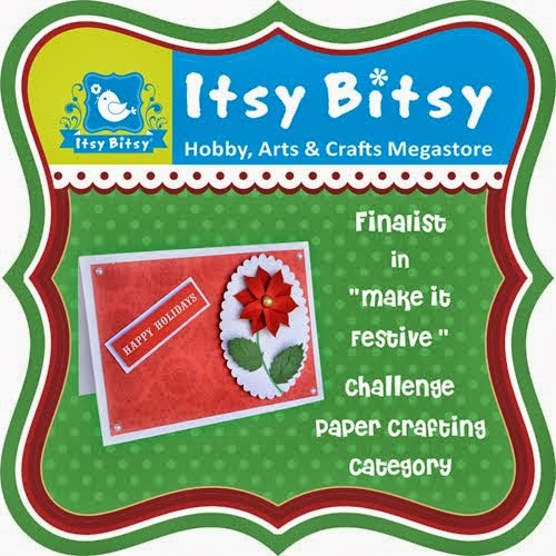 Finalist in Itsy- Bitsy festive Challenge