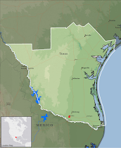 TEXAS MCALLEN MISSION MAP
