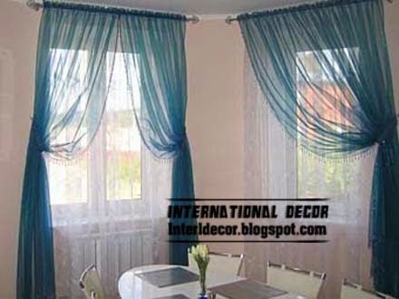 Contemporary Kitchen Curtains : Contemporary Kitchen curtain ideas 2014, bright styles,colors