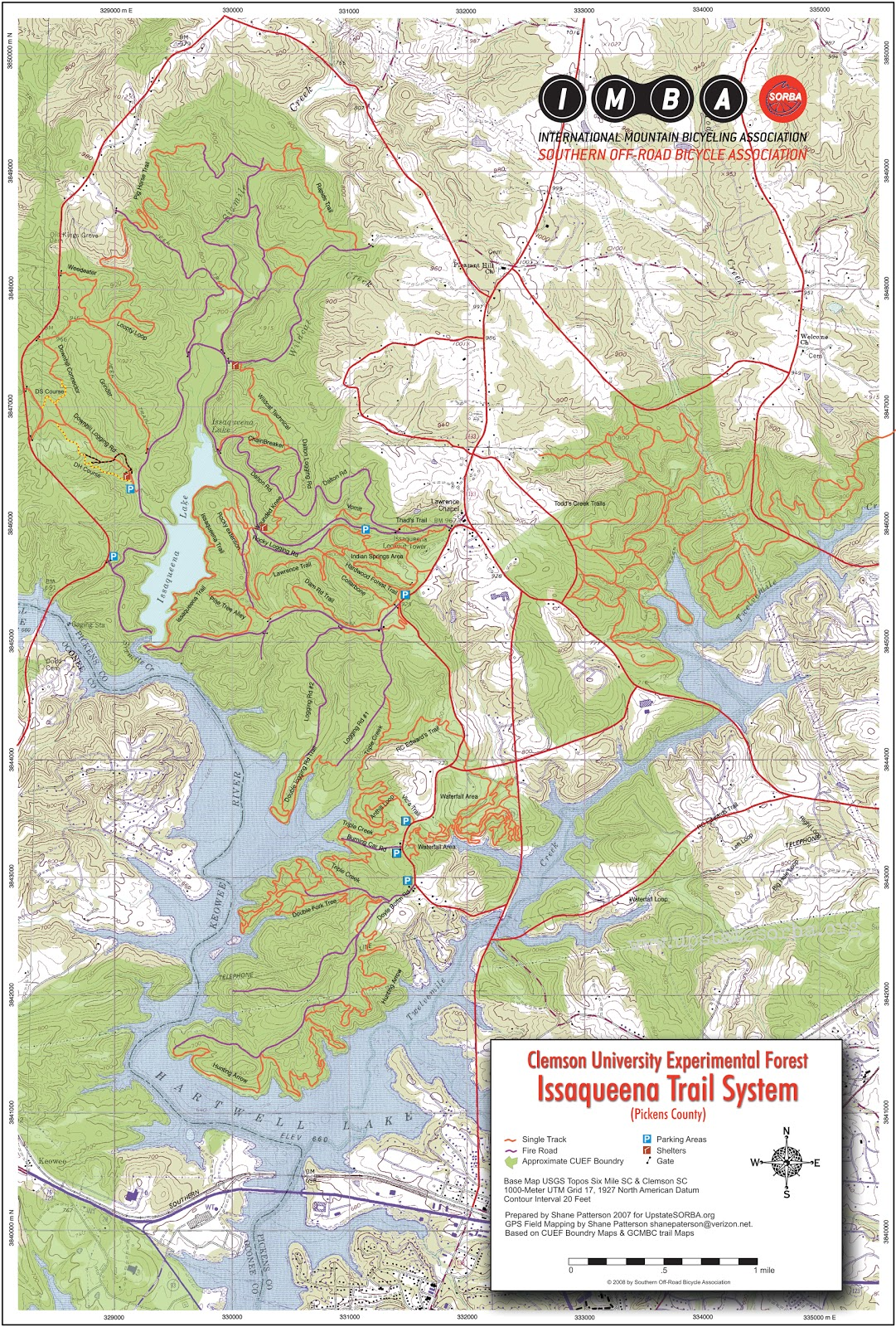 Clemson Trail Guide: Off-Campus Trails