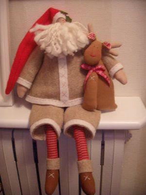 Как сшить Санта Клауса и оленя.Мастер-классы по елочным игрушкам.