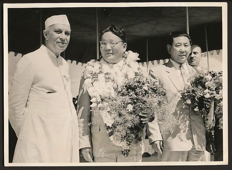 Yumjaagiin Tsedenbal and Jawaharlal Nehru - 1959