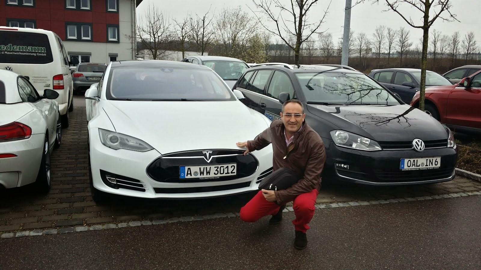 Qué suerte encontrarme un Tesla en alemania