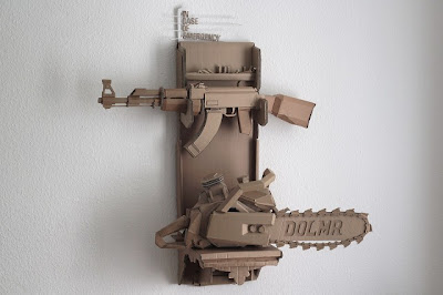 Figurative Cardboard Sculptures Seen On www.coolpicturegallery.us