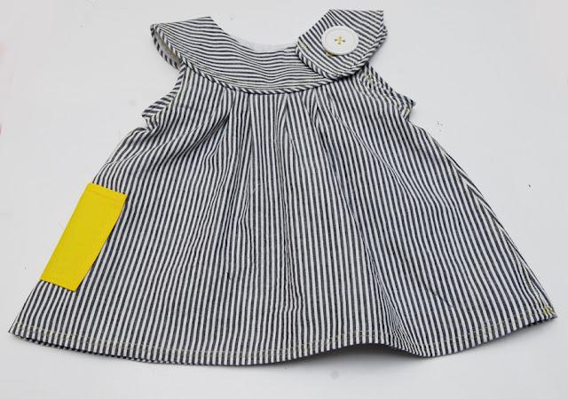 Round yoke dress sewing pattern