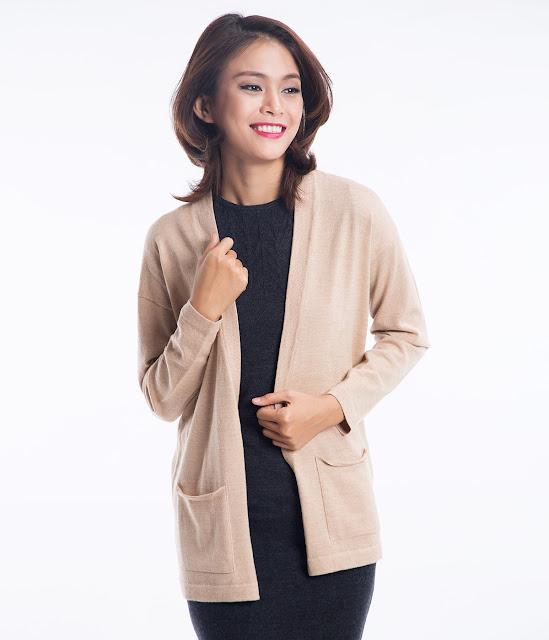Thời trang thu đông với áo khoác cardigan