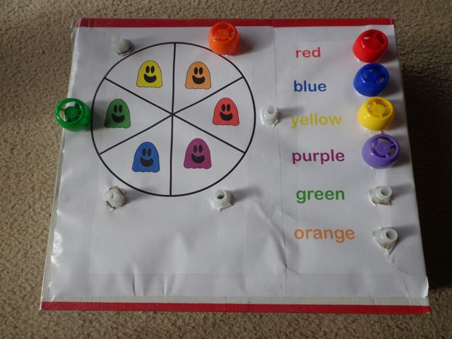 Three Ghost Friends Color Wheel Twist A Matching Game