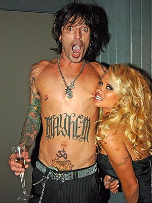 ... honey moon sex tape with then husband, Tommy Lee of Motley Crue fame.