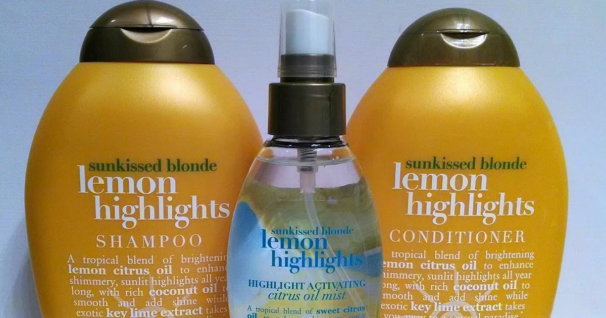 Ogx Organix Sunkissed Blonde Lemon Highlights Shampoo