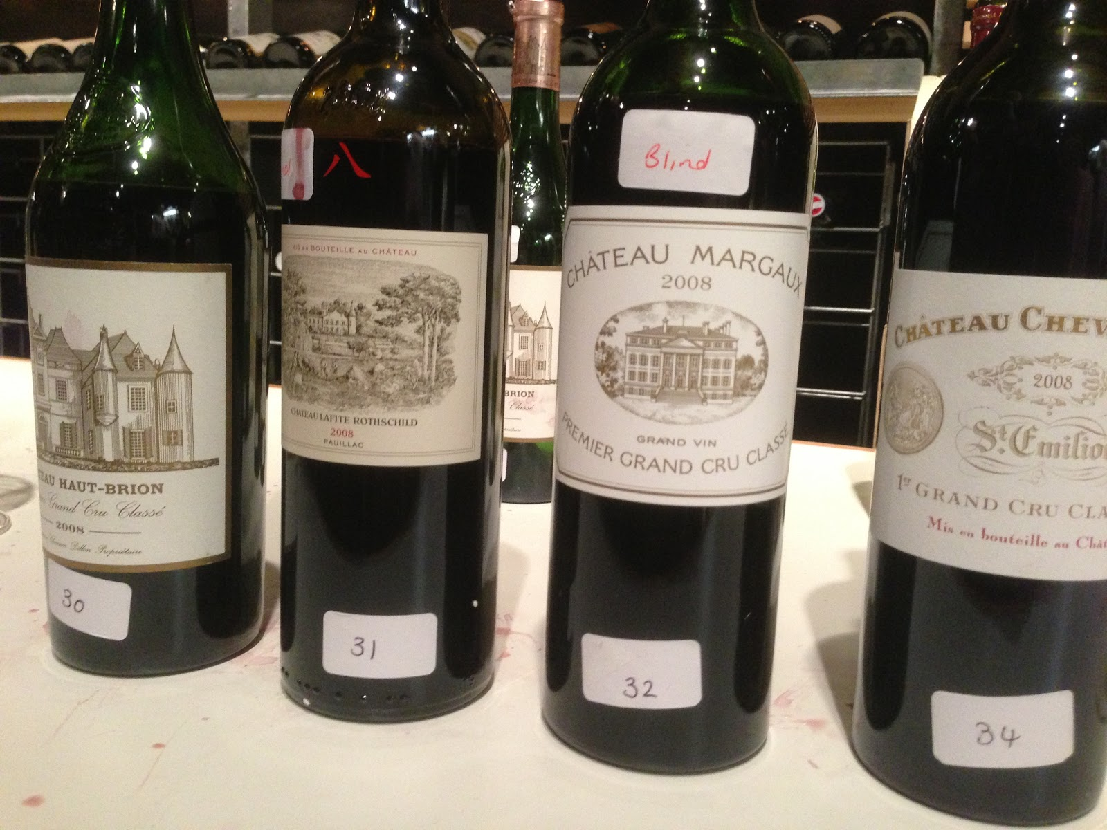 A tasting of the 2008 Bordeaux first growths