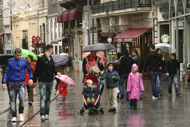 A rainy day on Istiklal Street