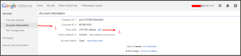 Cara Setting Account Adsense Dengan Mudah