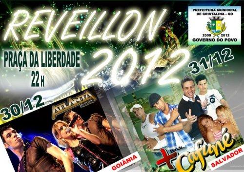 Confira os horários dos shows no Reveillon 2012 em Cristalina Goiás