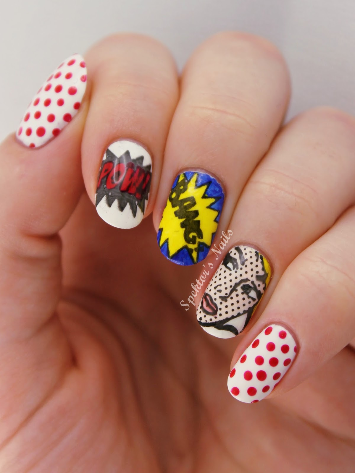 Roy Lichtenstein Pop Art Nails - MoYou London Pro Collection #10