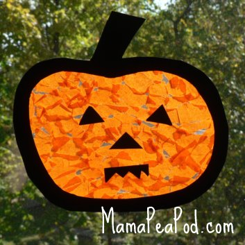 halloween pumpkin jack-o-lantern play sun catcher