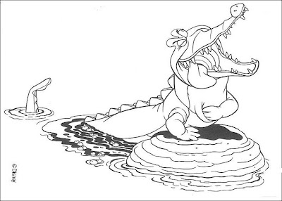 peter pan coloring pages - Peter Pan Crocodile Coloring Page