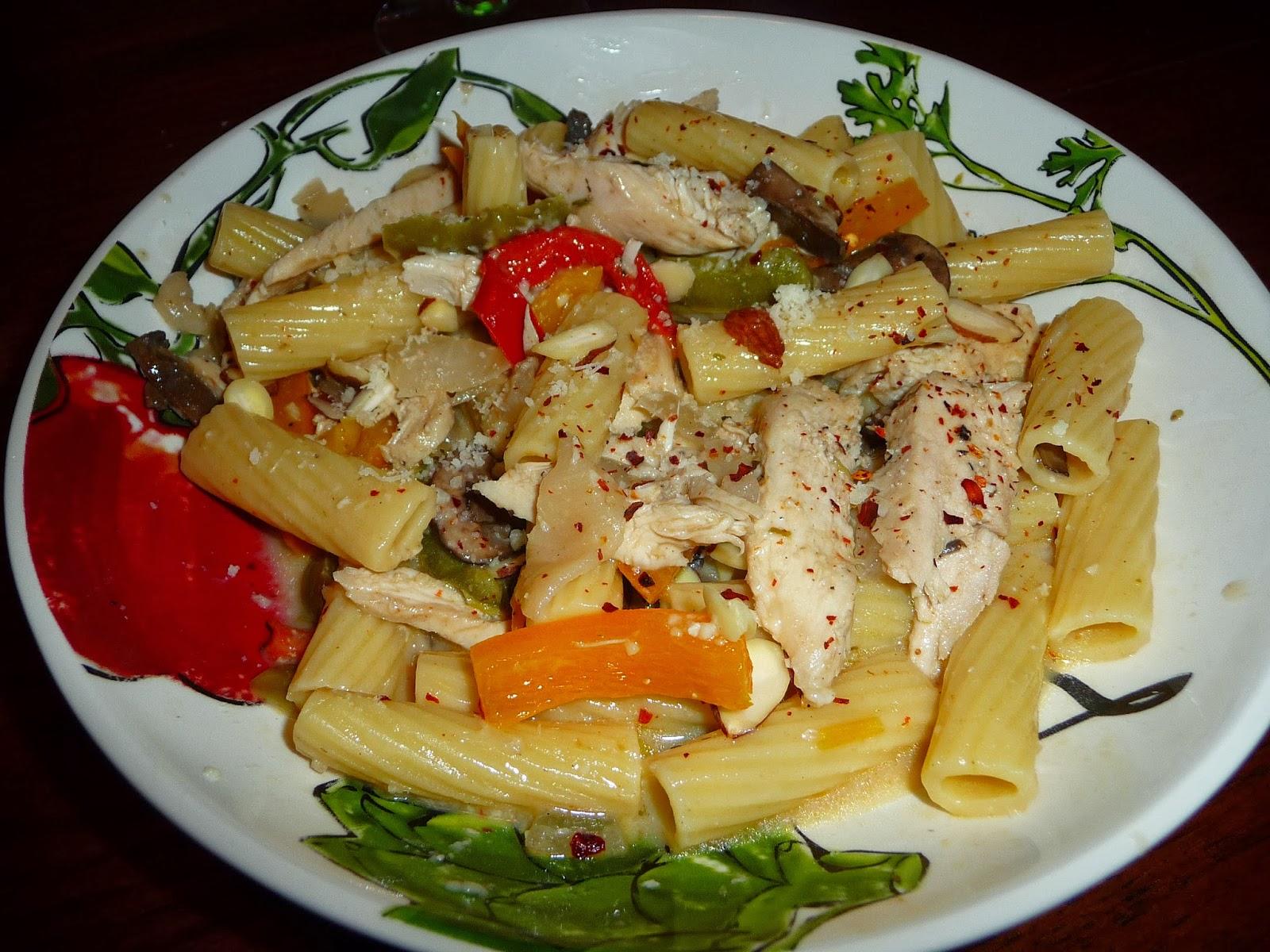 Live Love Eat Chicken Pasta Primavera In A White Wine Garlic Cream Sauce