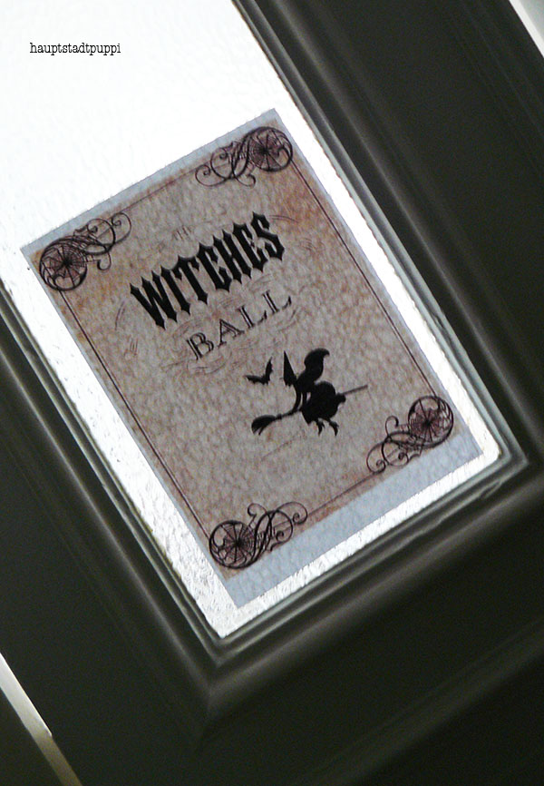 Door Poster for Witches Ball on Halloween by Hauptstadtpuppi