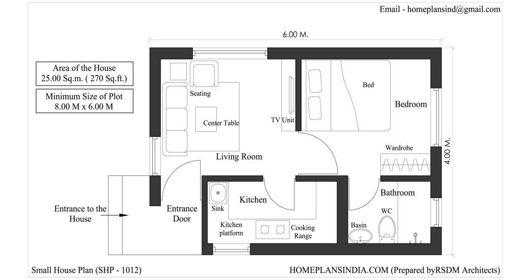 Home plans in india 4 free house floor plans for download Small house floor plans free