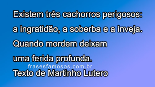 Frase de Martinho Lutero