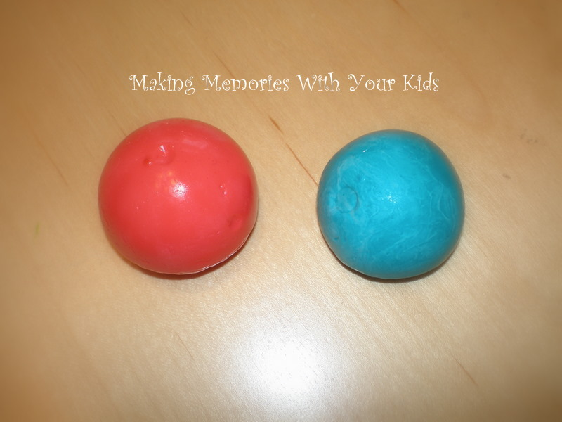 The super balls from making memories with your kids
