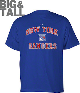 Big and Tall New York Rangers Team Pride Tee Shirt