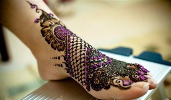bridal mehendi for feet