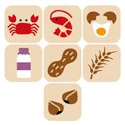 いろいろなアレルギー食品のマーク(特定原材料)